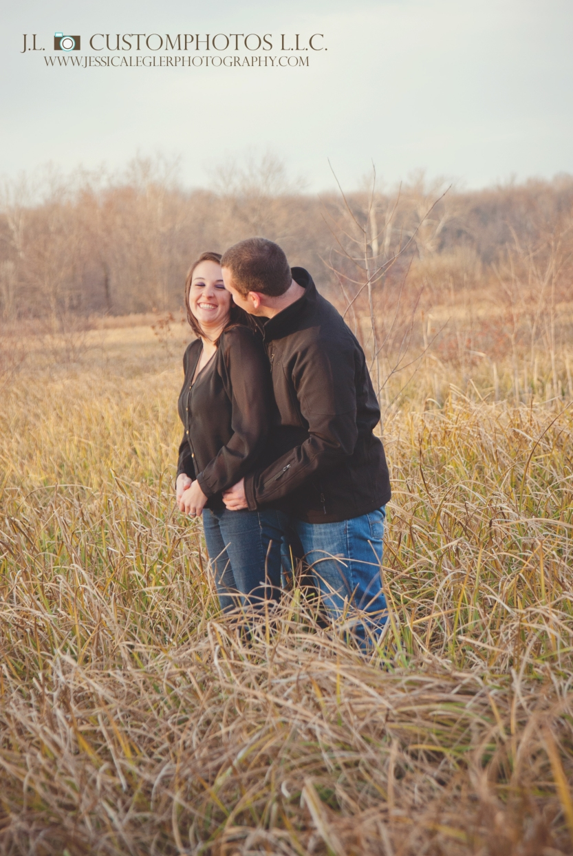 Marr 1 Marr Engagement Greenfeild Indiana IN 46140 Indianapolis Outdoor Fall wedding Custom Photography Photographer J.L. Custom photos J.L.CustomPhotos Jessica Legler Green Ring Bride Groom Portraits sunrise sunset