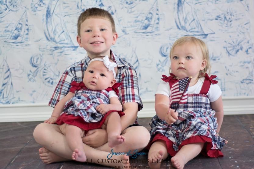 Babies, Children, Studio, Custom photography, red white blue, Greenfield Indiana, J.L.CustomPhotos L.L.C. Jessica Green Photography -3
