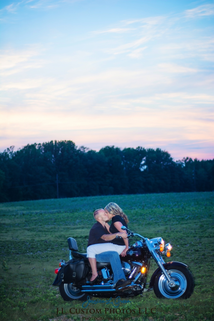 Greenfield Indiana Engagement Wedding Photographer Photography Photos Portraits Session JL Custom Photos J.L.CustomPhotos Jessica Green Jessica Legler Farm Harley Tractor Barn-10