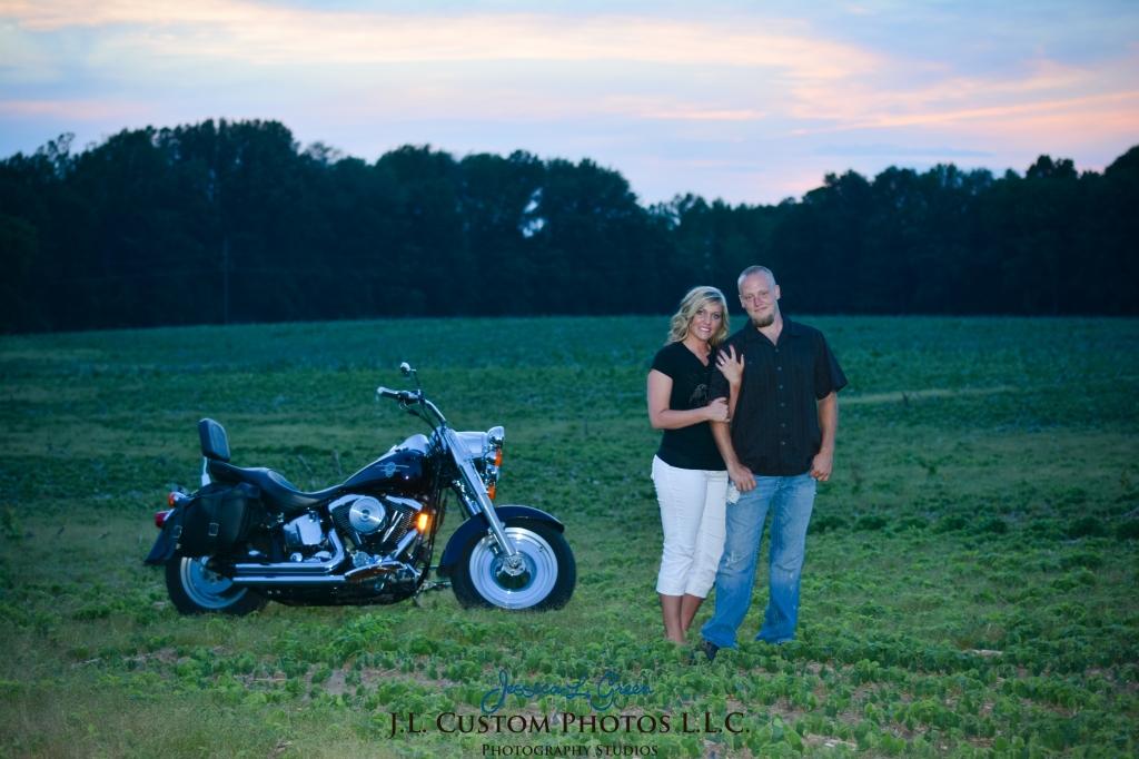Greenfield Indiana Engagement Wedding Photographer Photography Photos Portraits Session JL Custom Photos J.L.CustomPhotos Jessica Green Jessica Legler Farm Harley Tractor Barn-12
