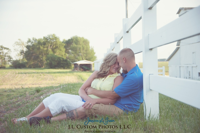 Greenfield Indiana Engagement Wedding Photographer Photography Photos Portraits Session JL Custom Photos J.L.CustomPhotos Jessica Green Jessica Legler Farm Harley Tractor Barn-16