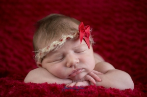 red, tie back, newborn, beautiful