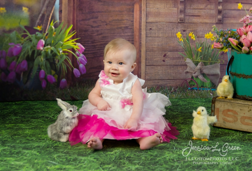 Greenfield, Photographer, J.L.CustomPhotos, Child, Baby girl, Indiana, six month, easter, portraits, Shelbyville, Knightstown-2