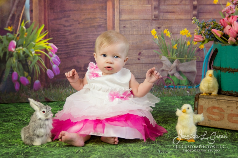 Greenfield, Photographer, J.L.CustomPhotos, Child, Baby girl, Indiana, six month, easter, portraits, Shelbyville, Knightstown-6896