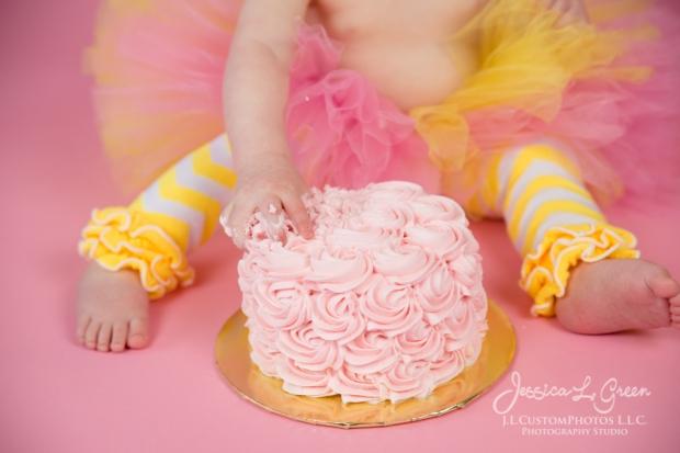 Greenfield, Photographer, J.L.CustomPhotos, Child, Cake Smash, Baby girl, Indiana, one year, portraits-3087