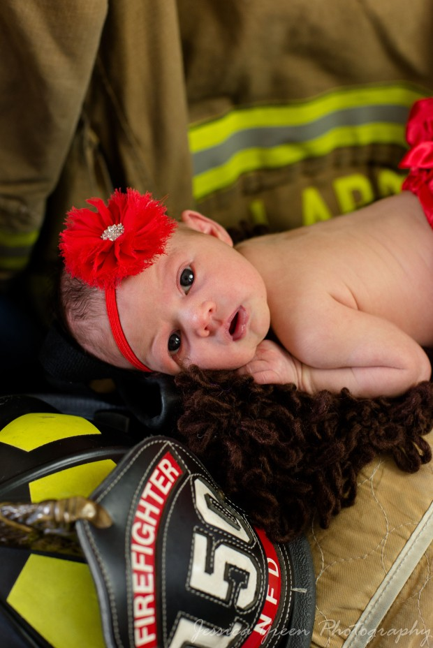 Greenfield, Indiana, Photography, Photographer, Photos, Jessica, Green, Greenfield, IN, JLCustom Photography, Jessica Green, Legler, Jessica Legler, Jessica Green Photography, 46140, Central Indiana, Indianapolis, Newborn , Firefighter , Red ,awake , Headband , big eyes , calm