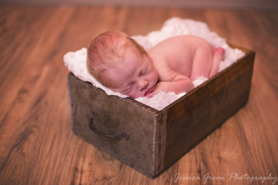 Greenfield, Indiana, Photography, Photographer, Photos, Jessica, Green, Greenfield, IN, JLCustom Photography, Jessica Green, Legler, Jessica Legler, Jessica Green Photography, 46140, Central Indiana, Indianapolis, Newborn , Son , Happy , Skin , Soft , Lips , Features , Red Hair , Sleeping , Box , blanket