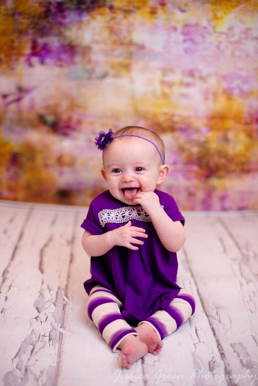 Greenfield, Indiana, Photography, Photographer, Photos, Jessica, Green, Greenfield, IN, JLCustom Photography, Jessica Green, Legler, Jessica Legler, Jessica Green Photography, 46140, Central Indiana, Indianapolis, Little girl , Happy , Smiles , Laughs , Cute , baby , Purple outfit